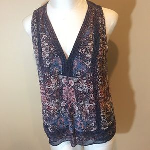 Joie Sleeveless Blouse Sz XS 100% Silk
